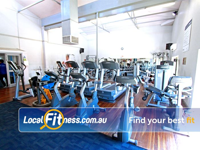 RecWest Footscray The cardio space in our Footscray gym.