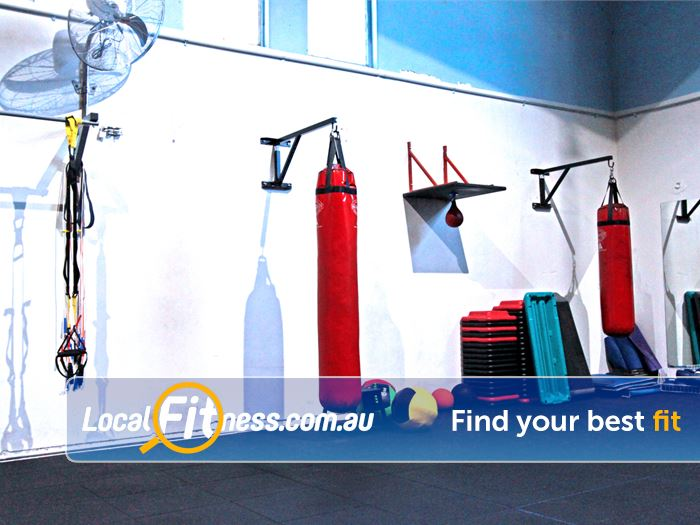 RecWest Footscray Our Footscray boxing area. Heavy punching bags and more.