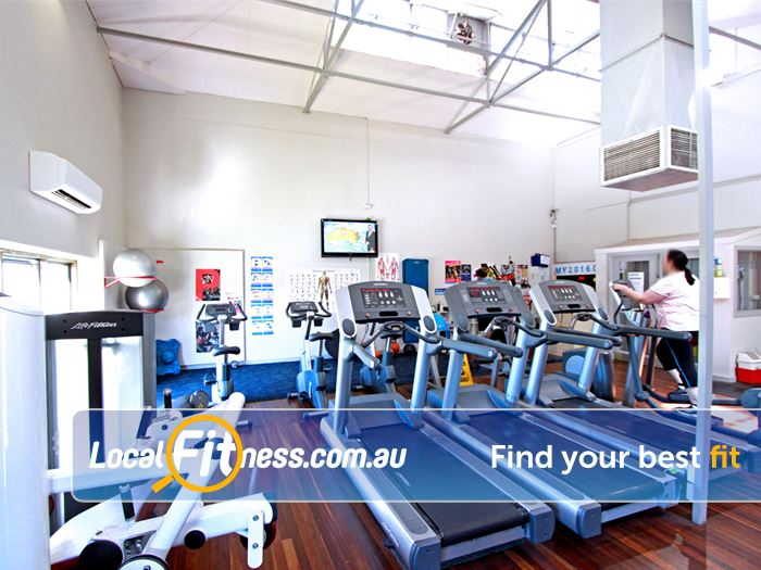 RecWest Near Kingsville The cardio space in our Footscray gym.