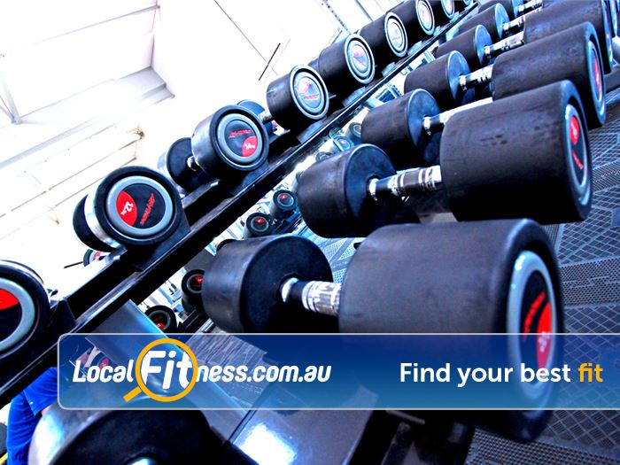 RecWest Footscray Our Footscray gym includes dumbbells, barbells, benches and more.