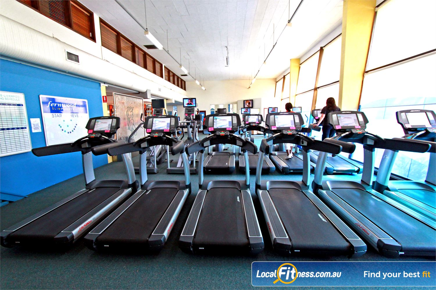 Fernwood Fitness Near Moorebank Luxury training with personal entertainment units on our machine.