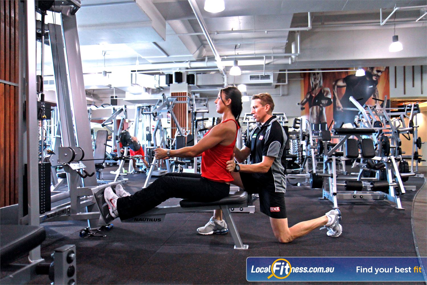 Goodlife Health Clubs Near Reedy Creek Robina gym staff can help you with your back strength.