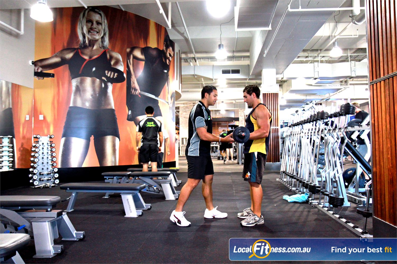 Goodlife Health Clubs Robina Free-weight training when you want with 24 hour Robina gym access.