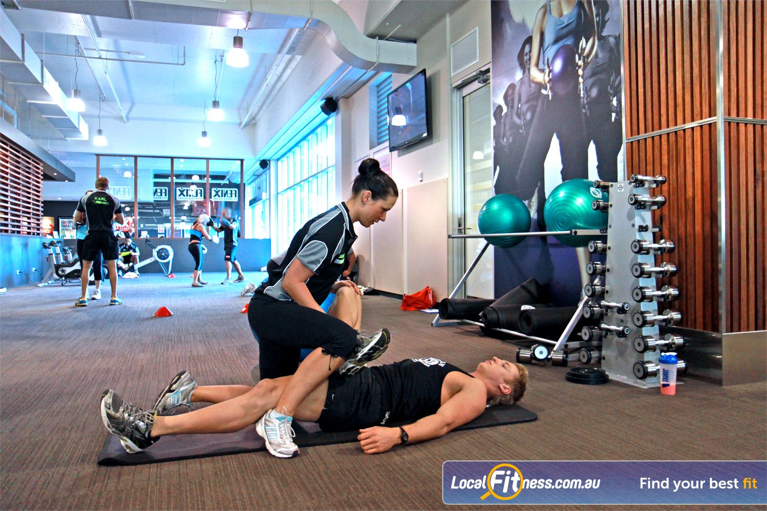 Goodlife Health Clubs Robina Our dedicated ab and stretching zone.
