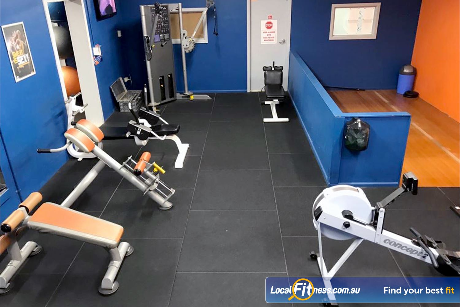 Plus Fitness Health Clubs Near Baulkham Hills The dedicated abs and stretching zone.