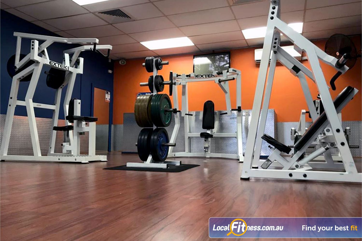 Plus Fitness Health Clubs Northmead A comprehensive range of plate-loadng machines at Plus Fitness Northmead.