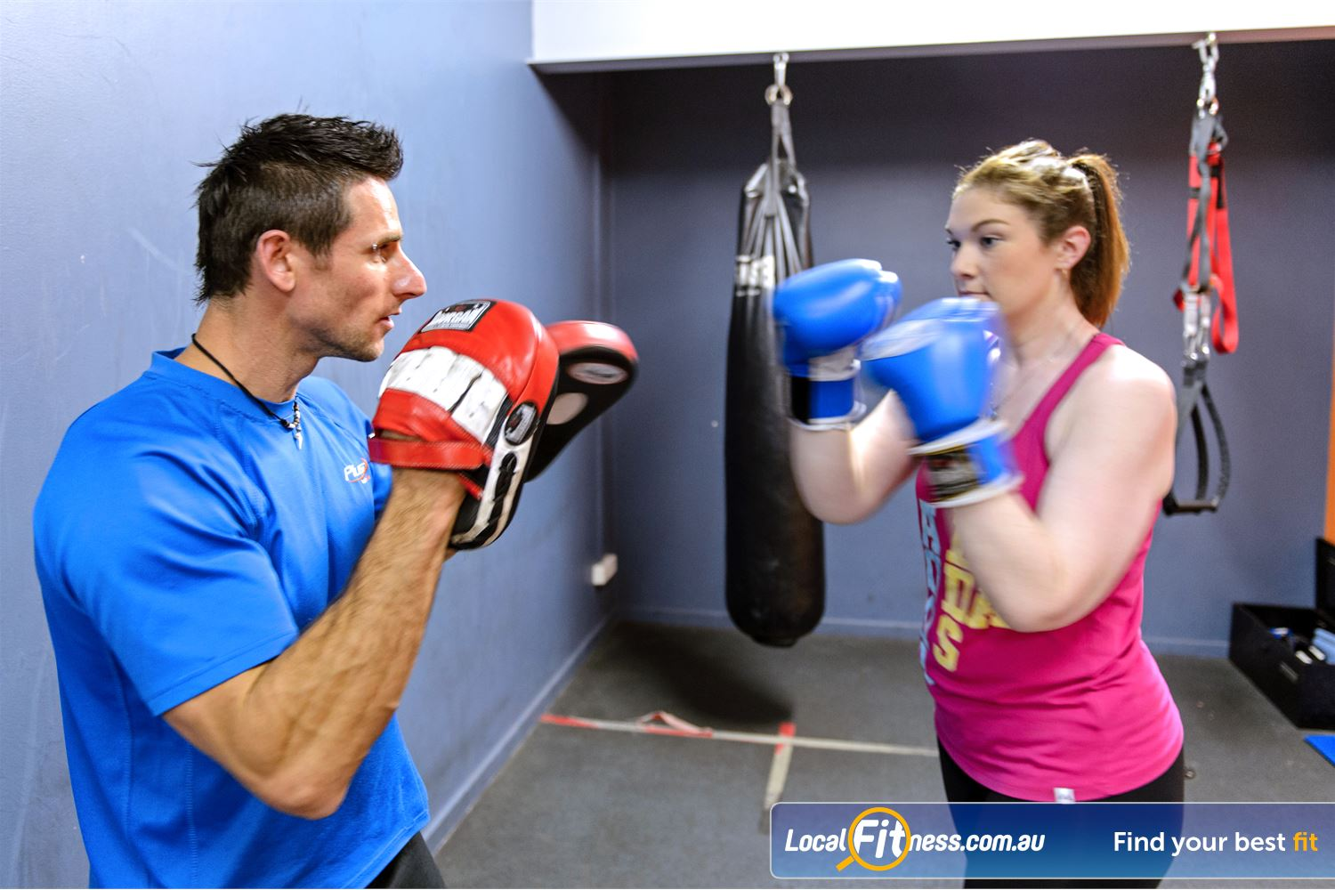 Plus Fitness Health Clubs Near Winston Hills enjoy a fun cardio boxing workout with our Northmead personal training team.