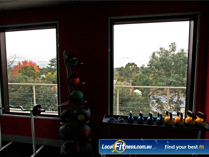 Fernwood Fitness Gym Box Hill  | Spectacular green view from Fernwood women's gym in
