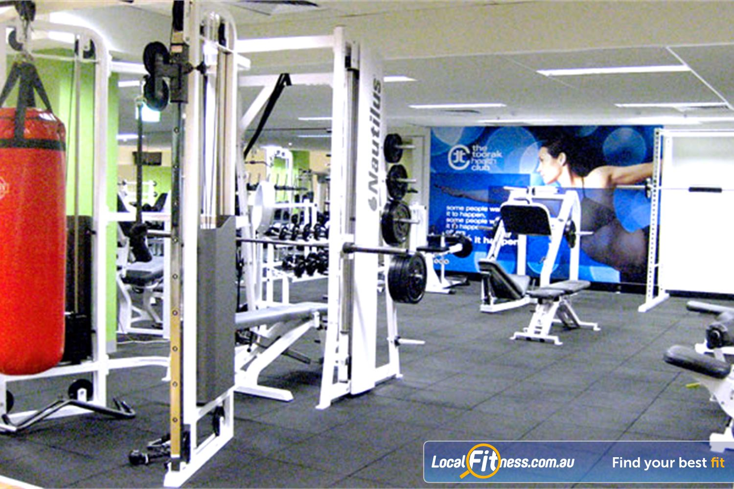 The Toorak Health Club Toorak The clean and open Toorak gym.