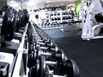 Our free-weights area includes heavy duty equipment.
