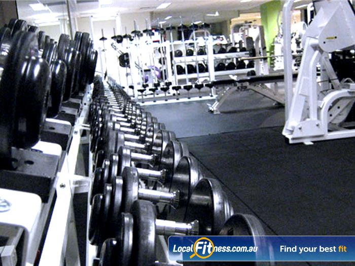 The Toorak Health Club Gym Armadale  | Our free-weights area includes heavy duty equipment.