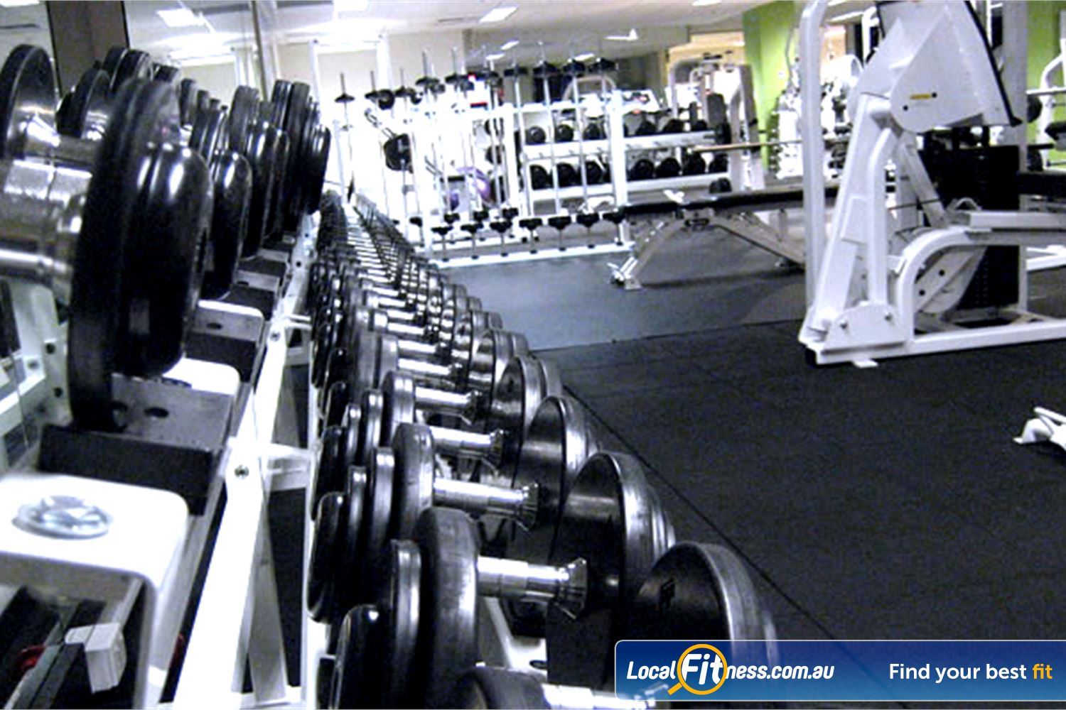 The Toorak Health Club Toorak Our free-weights area includes heavy duty equipment.