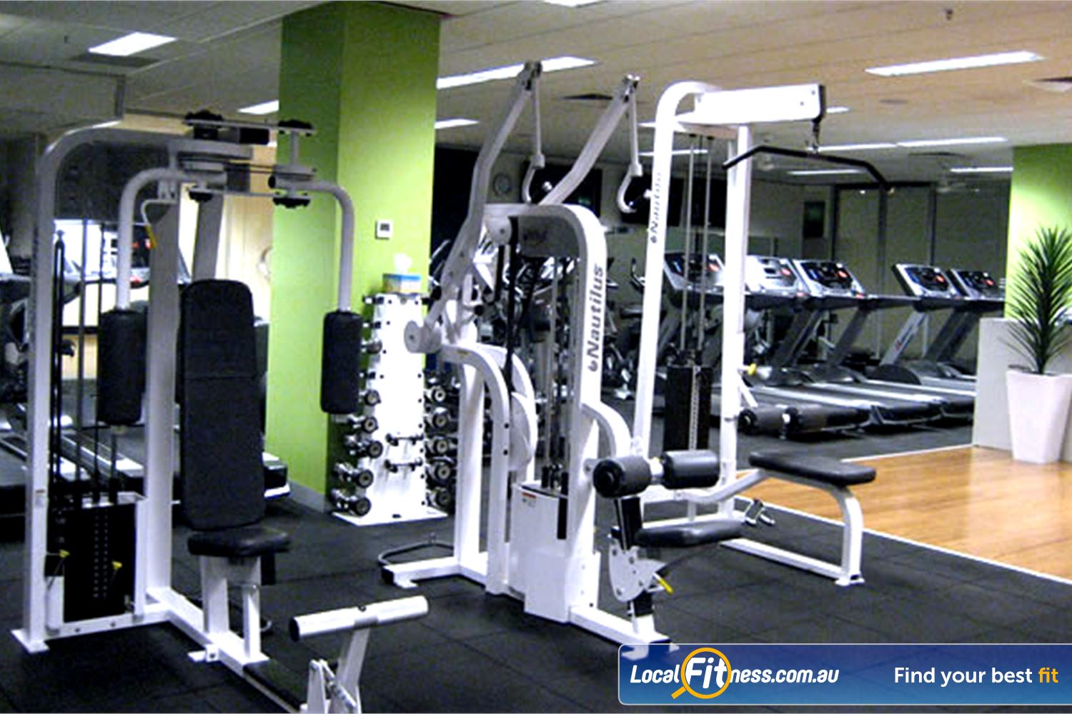 The Toorak Health Club Near Kooyong State of the art strength equipment.