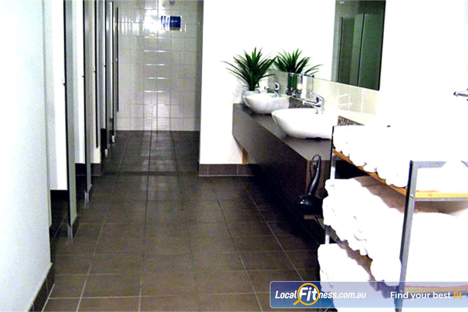 The Toorak Health Club Near Kooyong Clean and pristine change room facilities.