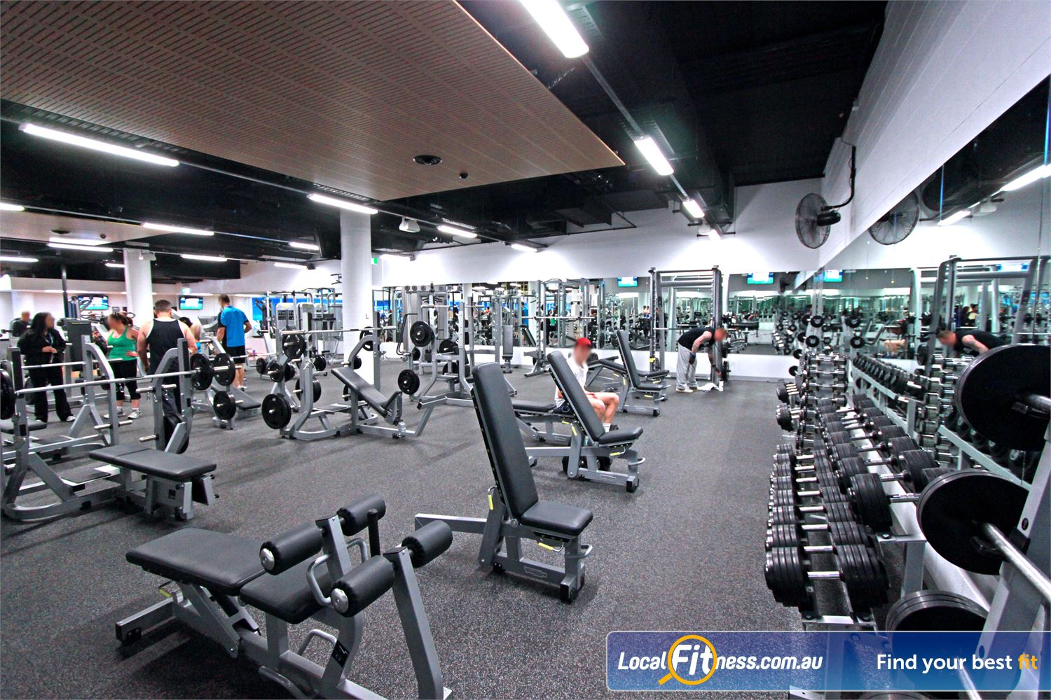 WaterMarc Aquatic & Leisure Centre Near Montmorency Benches, bars, dumbbells, barbells and more.