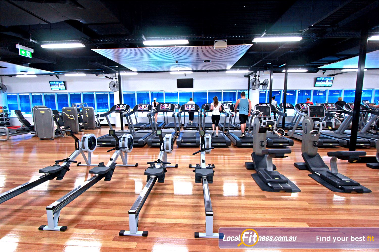 WaterMarc Aquatic & Leisure Centre Greensborough Our cardio area features calming views overlooking the pool.