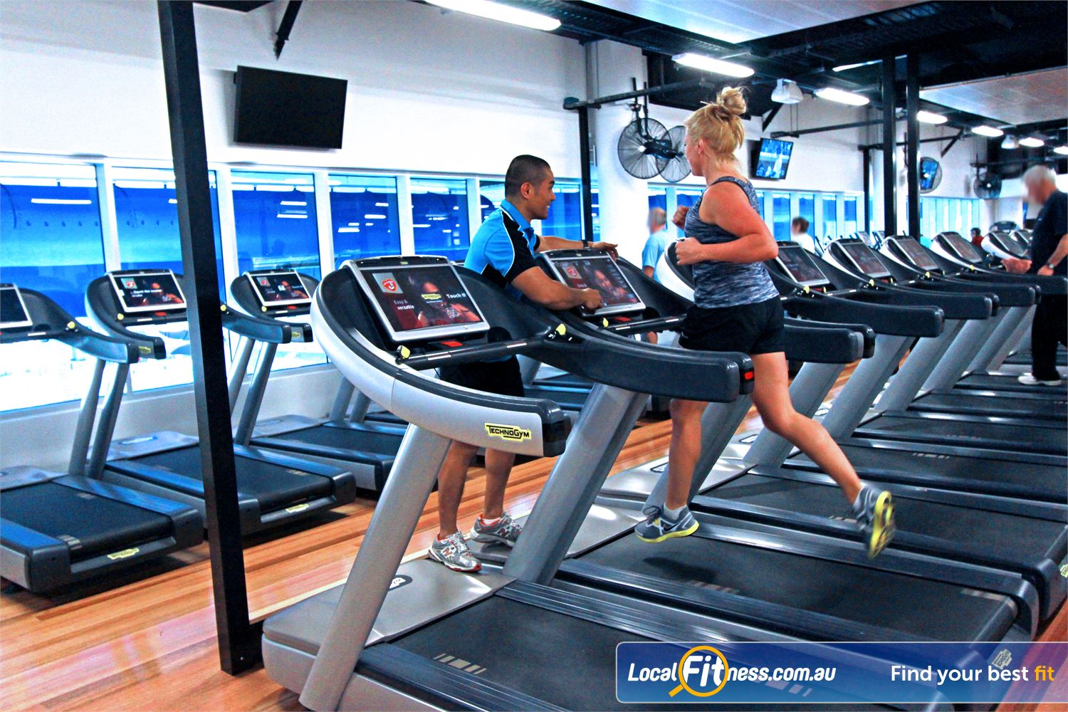 WaterMarc Aquatic & Leisure Centre Near Saint Helena The latest cardio with personal screens, web access, usb and more.