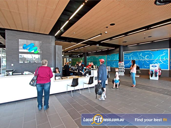 WaterMarc Aquatic & Leisure Centre Near Eltham North The entrance to the $50 million community facility.