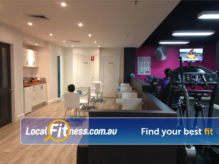 Fernwood Fitness Near Newtown Complimentary kitchen area for our valued members.