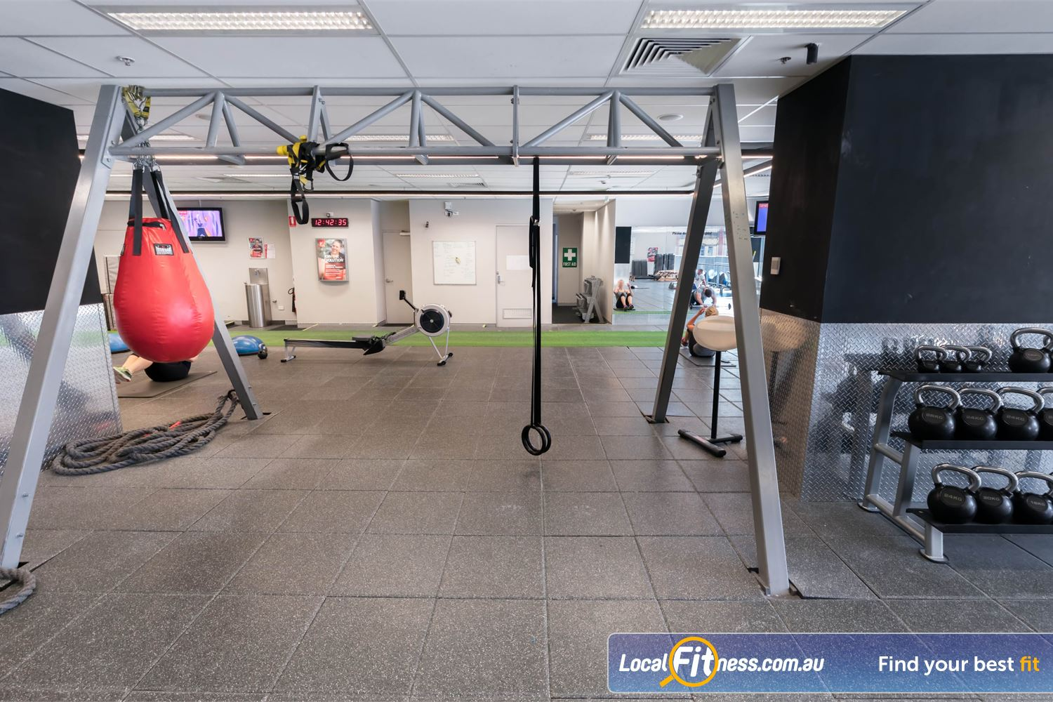 Fitness First Platinum Near Woolloomooloo The TRX training rigg in our freestyle functional training zone.