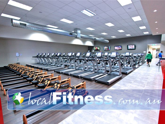Genesis Fitness Clubs Heidelberg West Gym Fitness Rows of machines so you'll