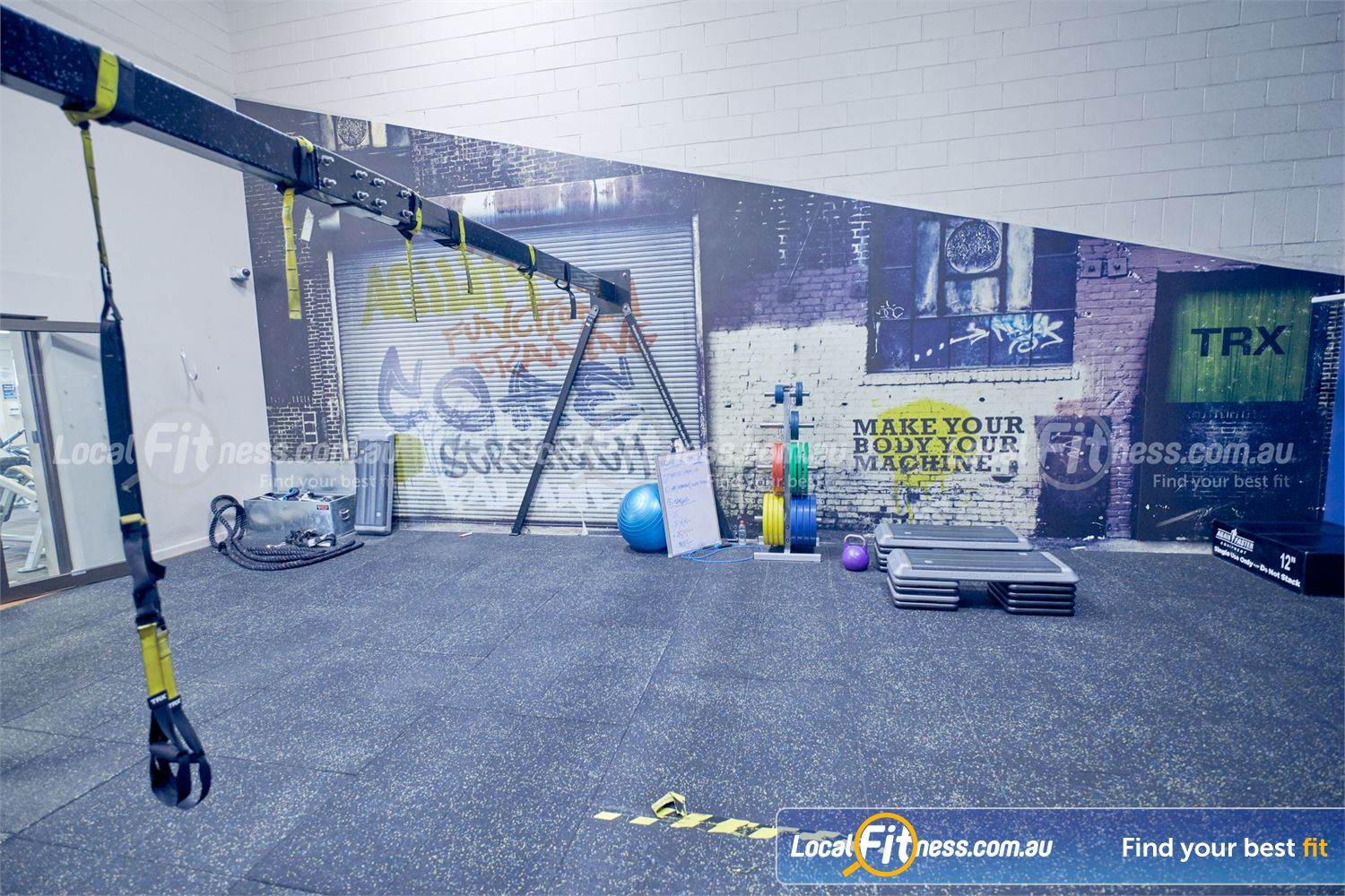 Goodlife Health Clubs Dingley Village Our Dingley gym includes a fully equipped functional training studio.