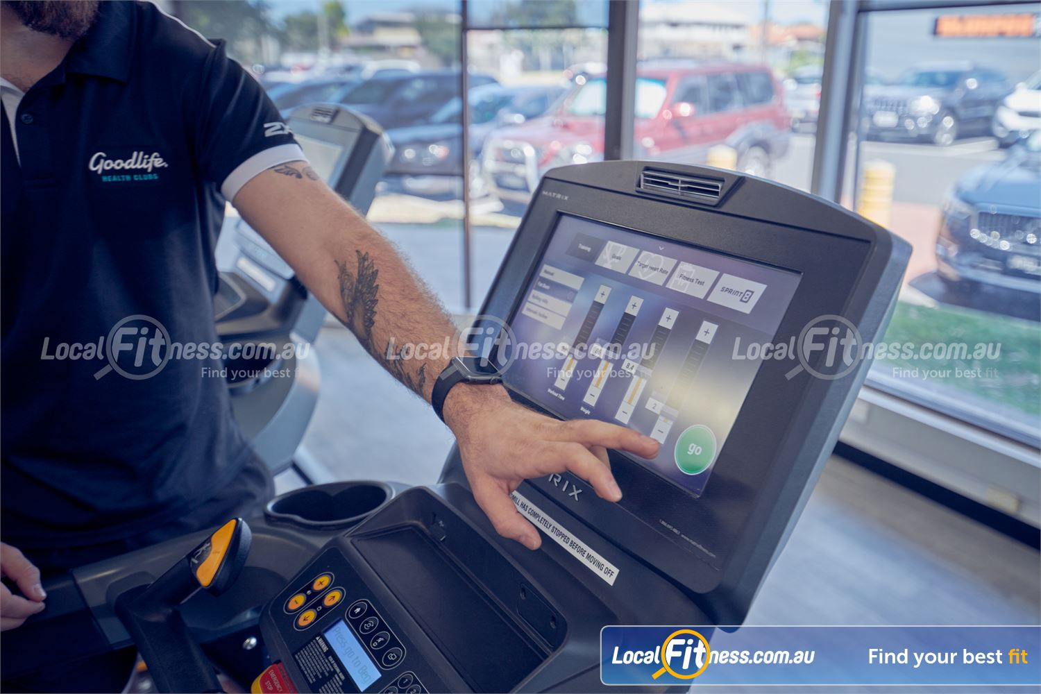 Goodlife Health Clubs Dingley Village State of the art cardio includes personal entertainment screens.