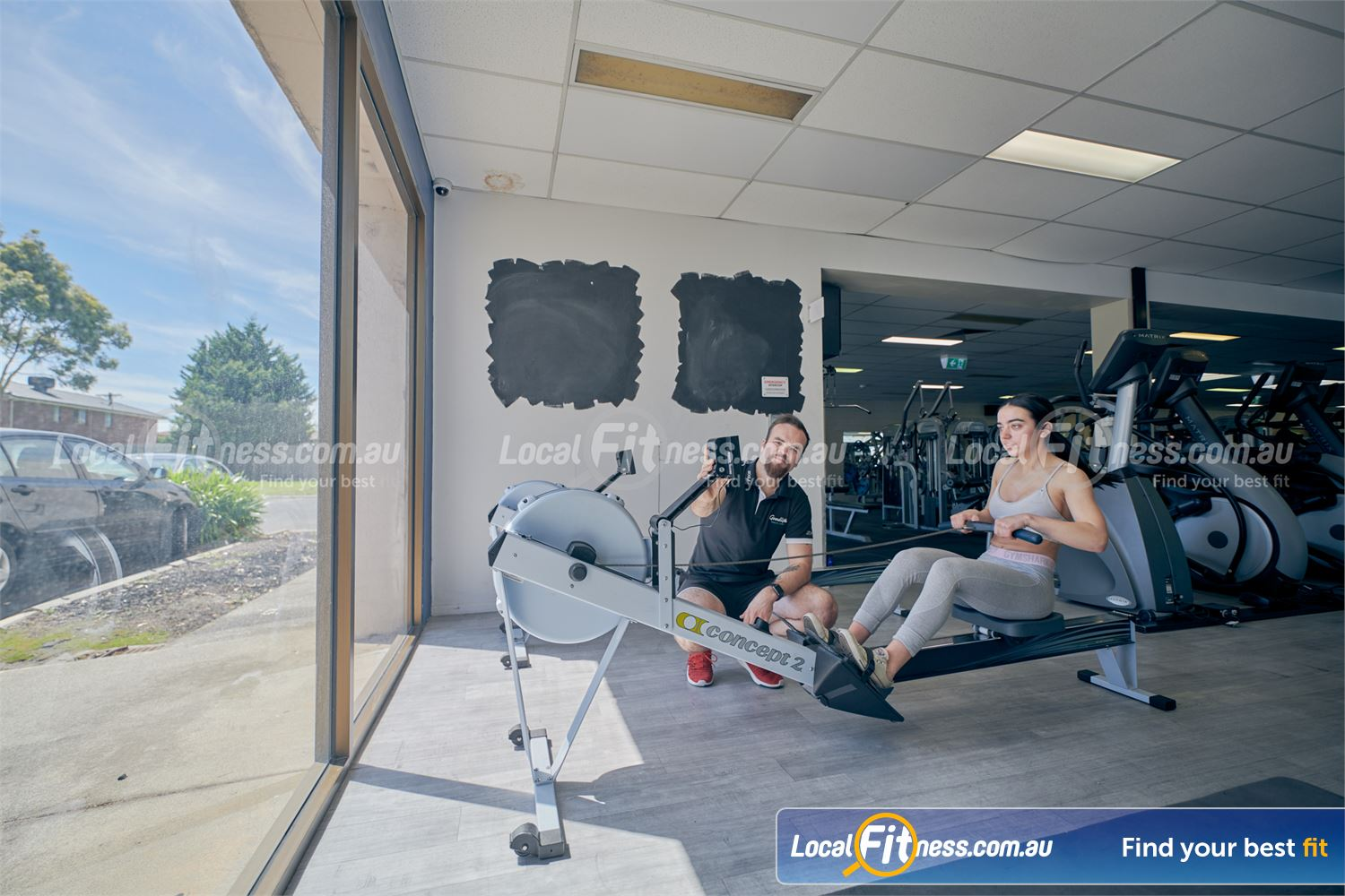 Goodlife Health Clubs Near Springvale South Our Dingley gym team can show you how to use our Concept 2 rowers.