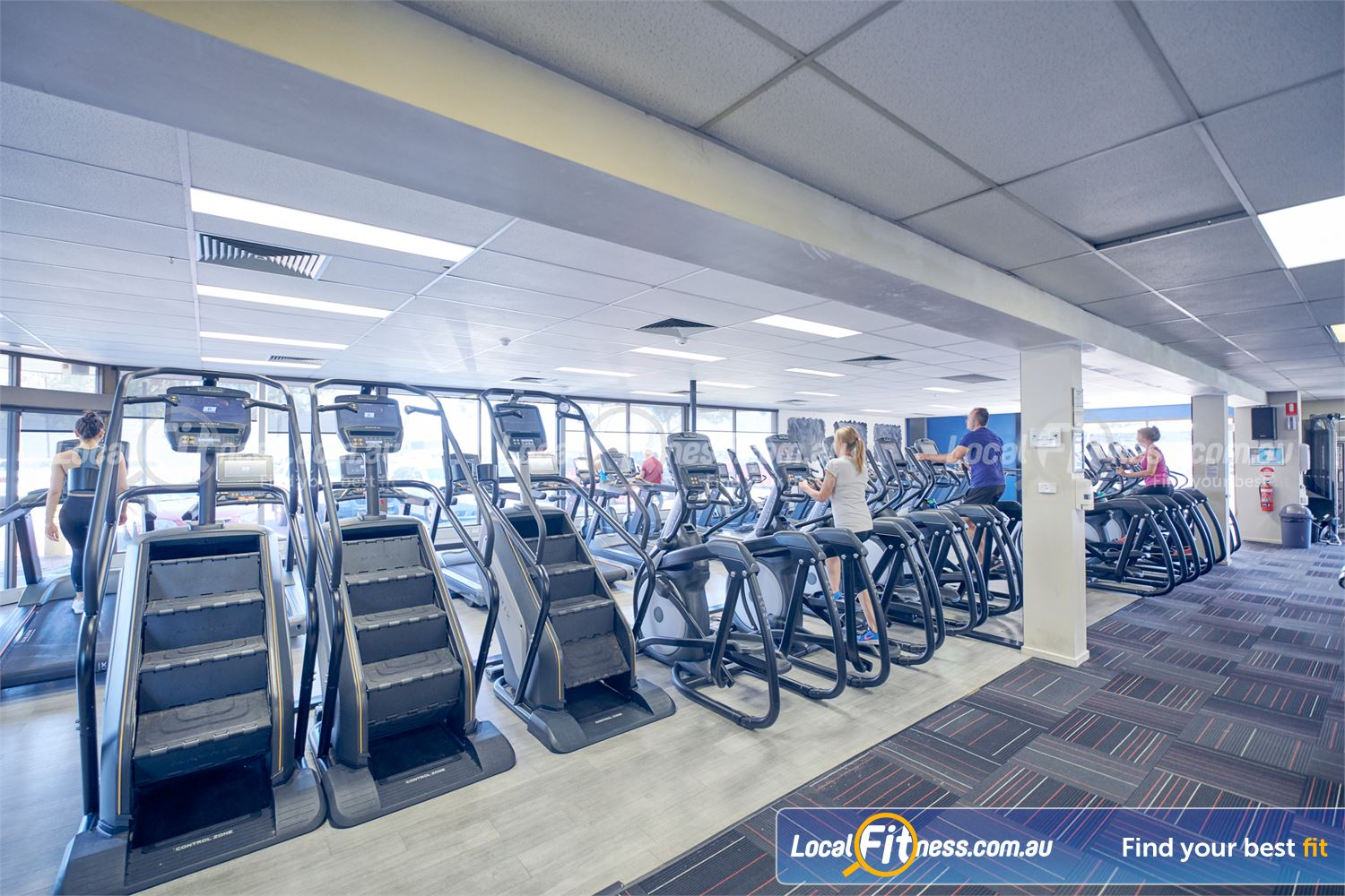 Goodlife Health Clubs Dingley Village Treadmills, cross-trainers, climbmills and more.