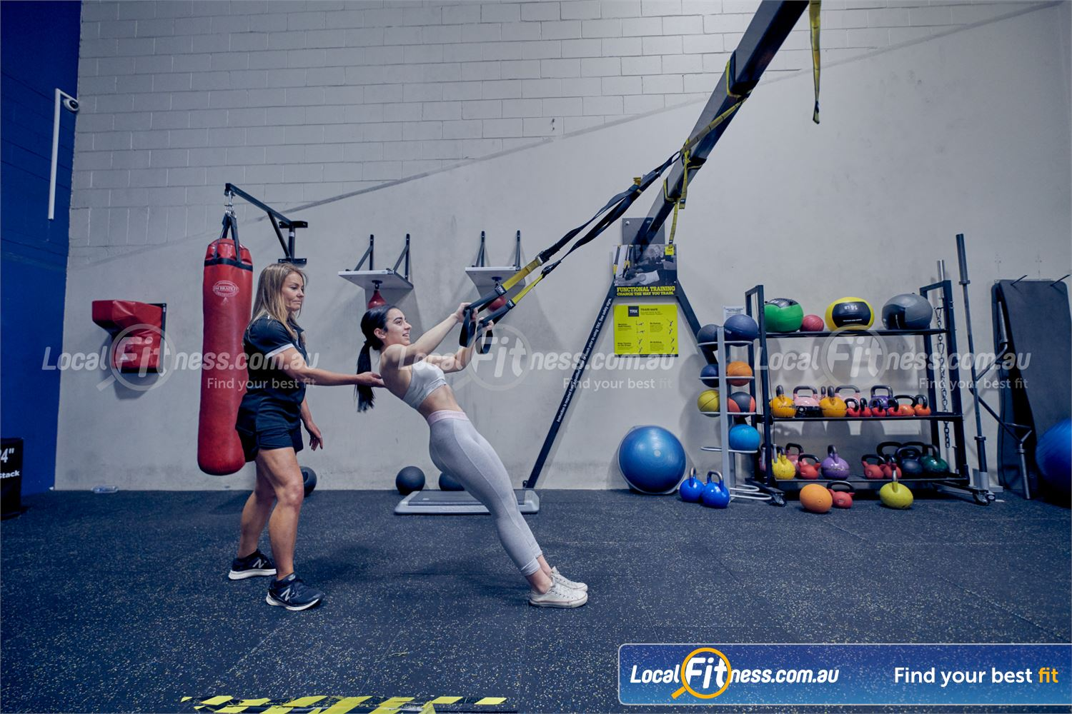 Goodlife Health Clubs Near Springvale South Challenge your core and stability with TRX training in Dingley.