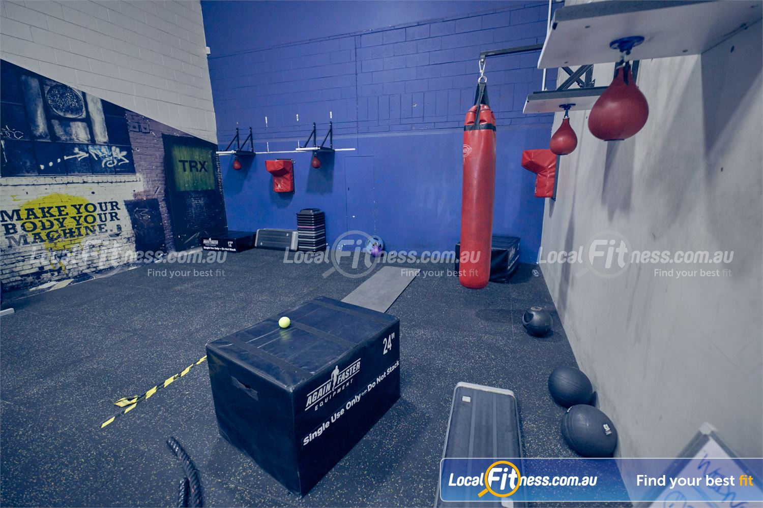 Goodlife Health Clubs Near Mordialloc The Dingley boxing area in our functional training studio.