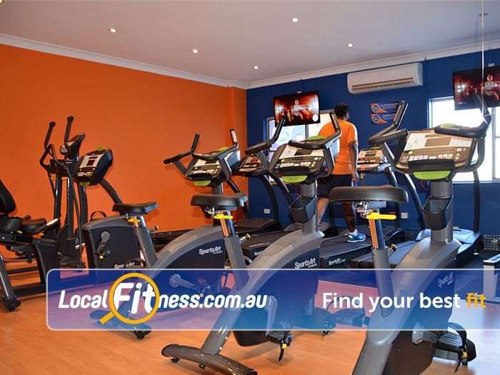 Plus Fitness 24/7 Gym Ettalong Beach  | State of the art cardio with  entertainment screens to