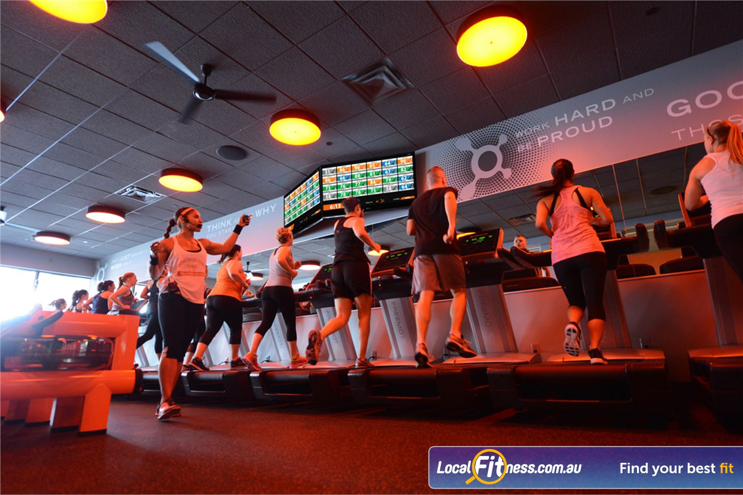 Orangetheory Fitness Near Toorak Our Hawthorn gym includes 12 treadmills and 12 rowers.