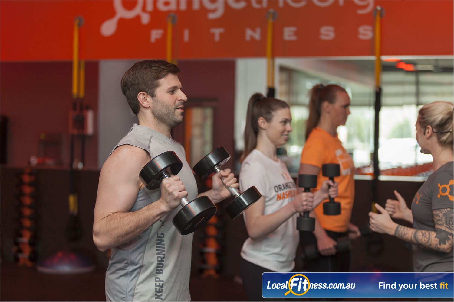Orangetheory Fitness Hawthorn Hawthorn personal training in a group class setting.
