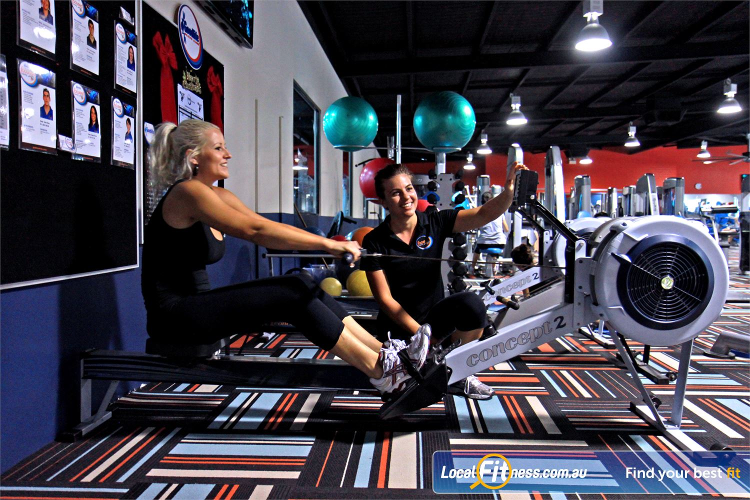 Goodlife Health Clubs Kingsway Near Wangara Madeley gym instructors can vary your workout with indoor rowing.