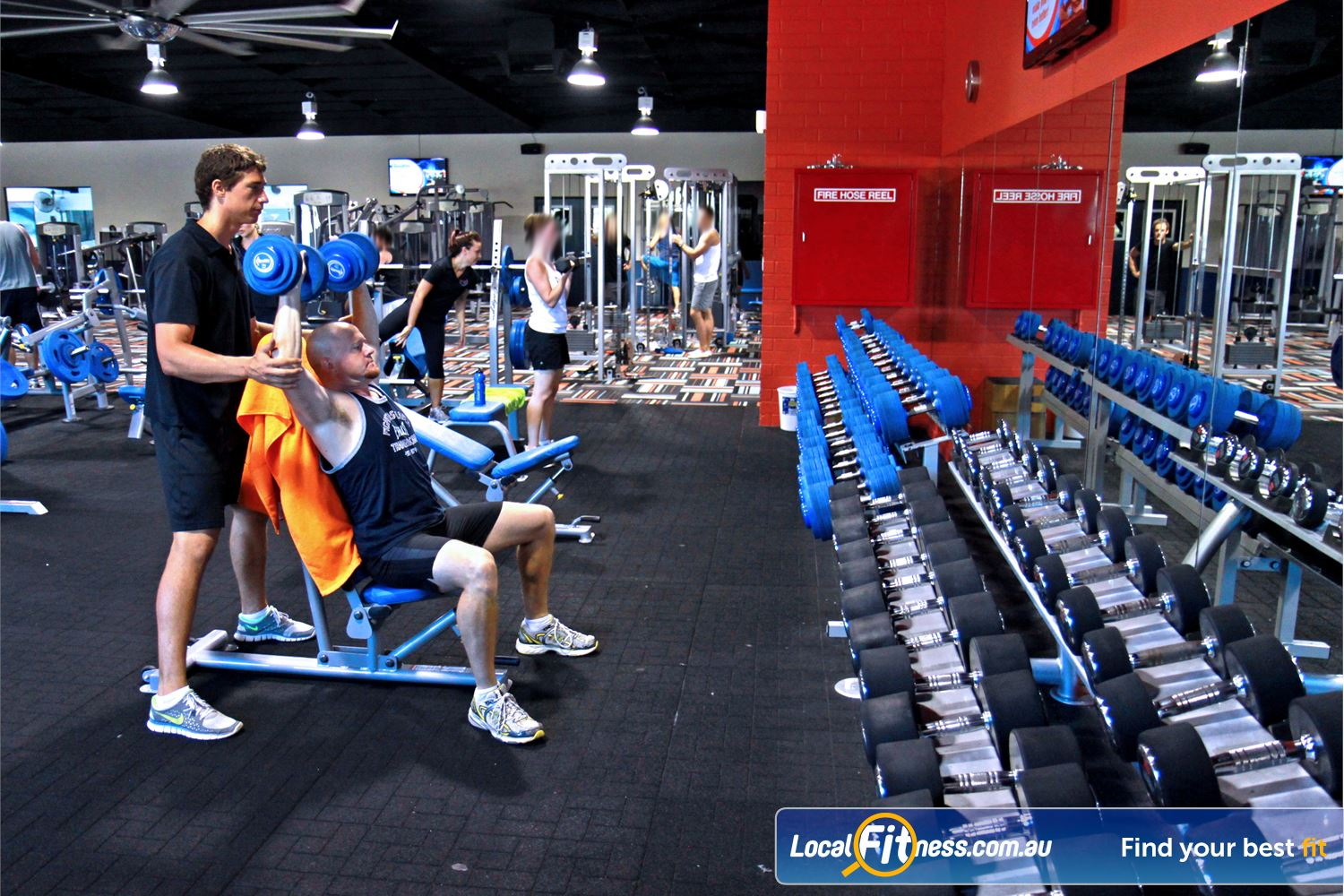 Goodlife Health Clubs Kingsway Near Greenwood Our Madeley gym includes a comprehensive range of dumbbells and barbells.