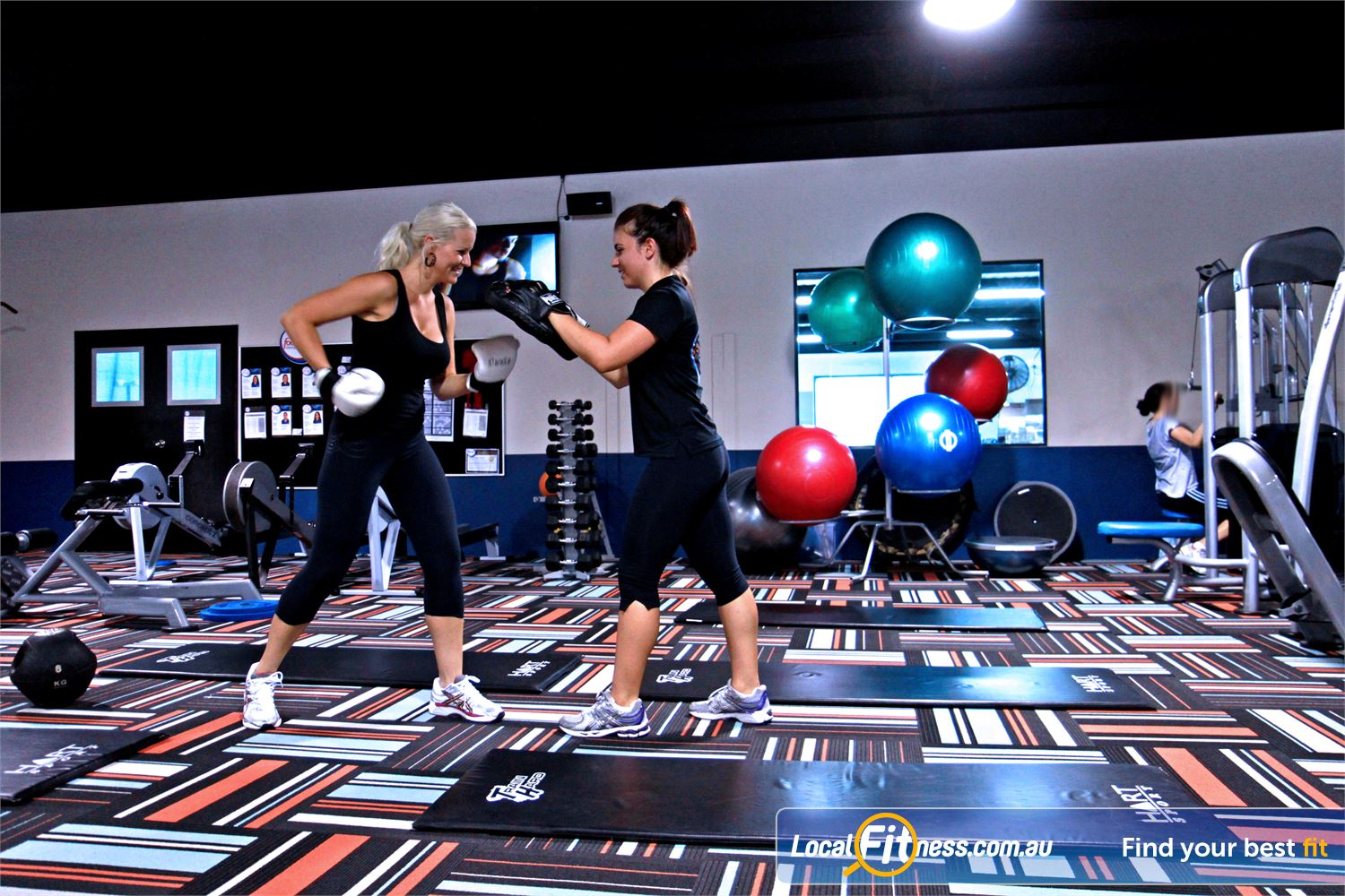 Goodlife Health Clubs Kingsway Near Pearsall Madeley personal trainers can incorporate cardio boxing into your training.