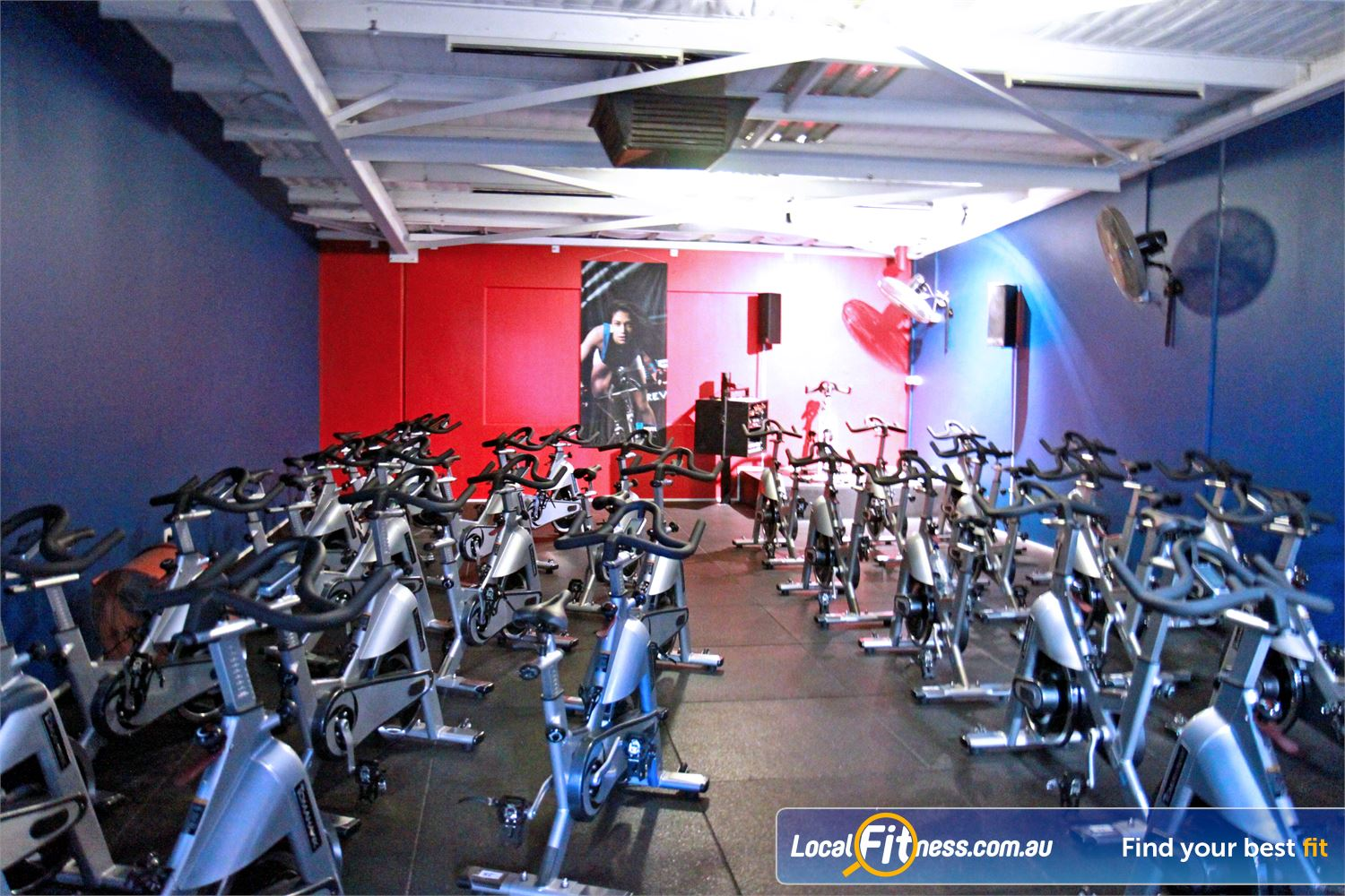 Goodlife Health Clubs Kingsway Near Wangara Dedicated Madeley spin cycle studio.