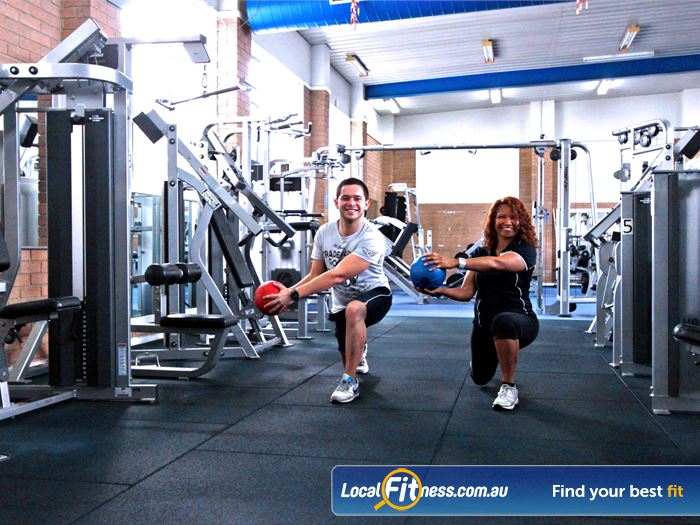 Fawkner Leisure Centre Gym Airport West  | Fully equipped Fawkner gym free-weights area.