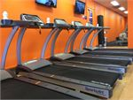 Rows of cardio machines so you don't have