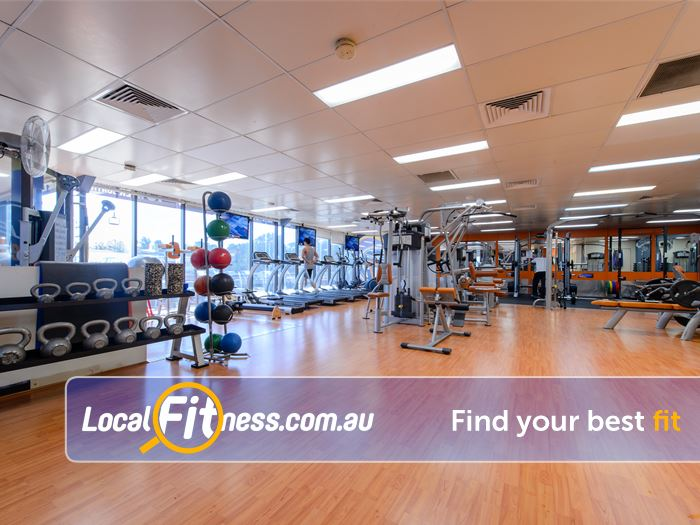 Plus Fitness 24/7  Gym St Peters  | The spacious 24/7 Rockdale gym floor.