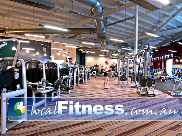 Ontic Health & Fitness Springwood A relaxing open plan Springwood gym floor space.