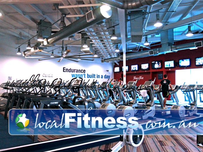Ontic Health & Fitness Near Shailer Park Our signature cardio theatre setup at Ontic Health & Fitness Springwood gym.