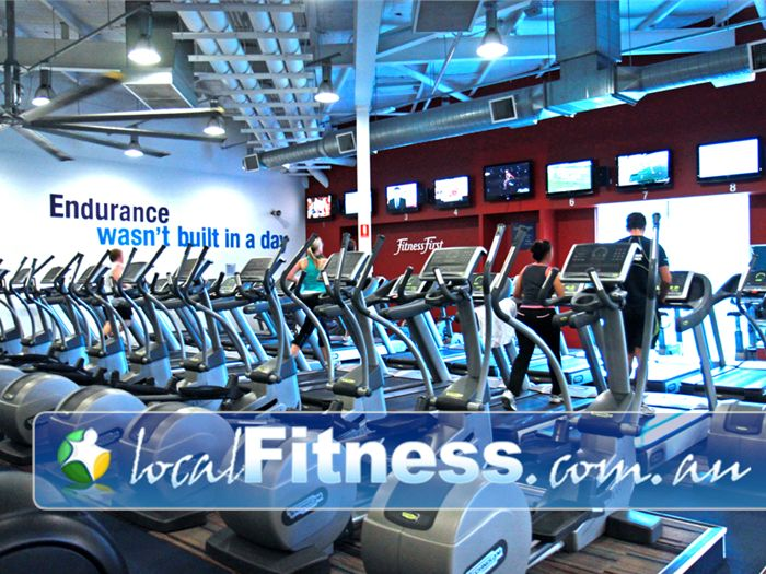 Ontic Health & Fitness Springwood The cardio area includes a full range of entertainment features.