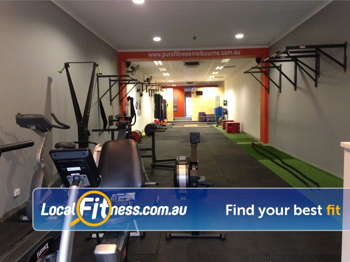 Pure Fitness Melbourne Near Yallambie Cardio, battle ropes, boxing bags, chin-up bars and more.