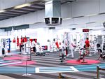 Large open plan Maidstone gym with natural lighting.