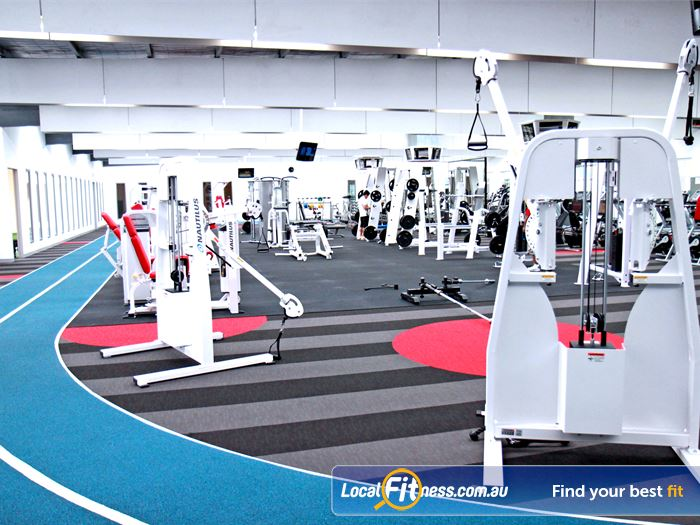 Genesis Fitness Clubs Gym Newport  | Athletic design, with the running track surrounding the