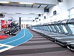 Rows of the latest Healthstream treadmills and Expresso