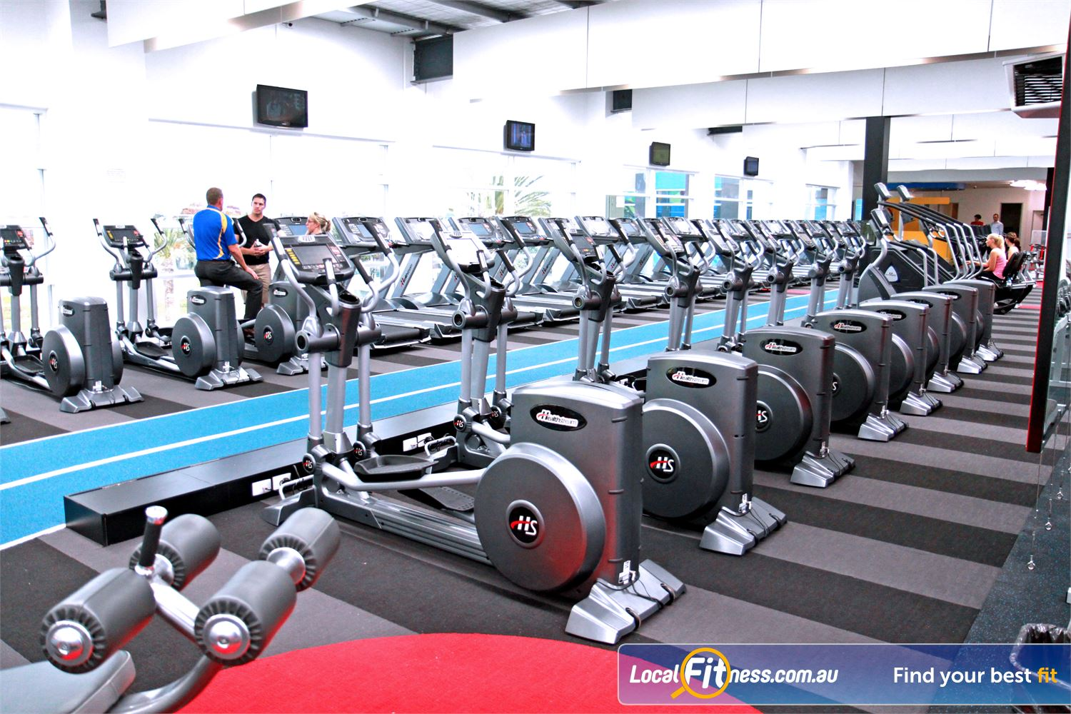 Genesis Fitness Clubs Near Maribyrnong Vary your cardio and utilise our indoor running track.