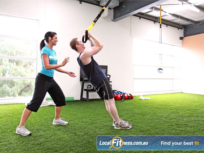 Genesis Fitness Clubs Maidstone TRX training in our indoor maidstone boot camp room.